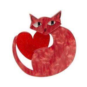 Linda Love Cat Brooch